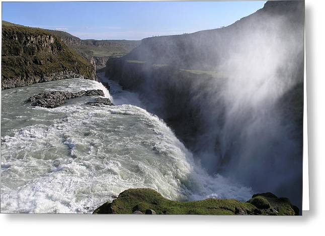Greeting Card featuring the photograph Gullfoss by Christian Zesewitz