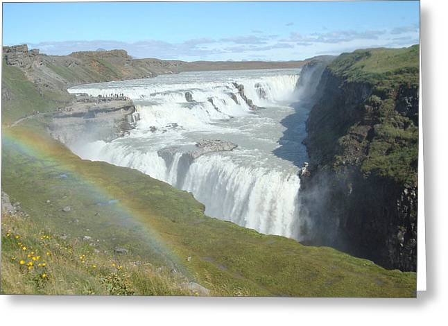 Gullfoss Waterfall Greeting Card by Kay Gilley