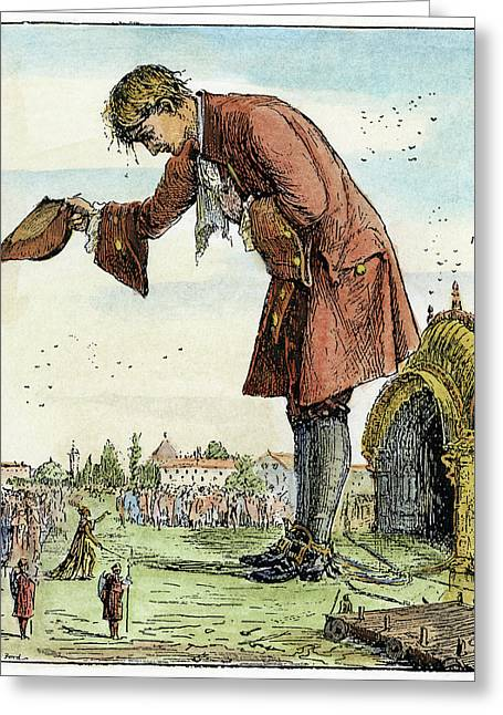 Gulliver's Travels, 1891 Greeting Card by Granger