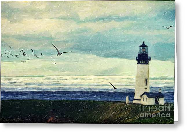 Gulls Way Greeting Card by Lianne Schneider