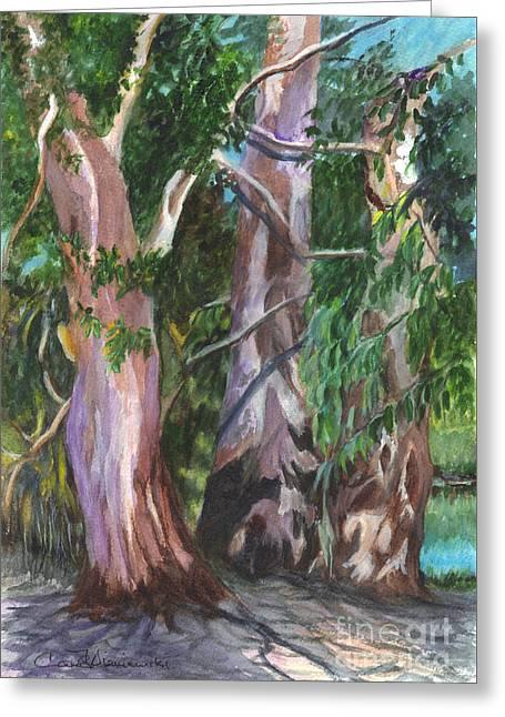 Gum Trees In Oz Greeting Card by Carol Wisniewski