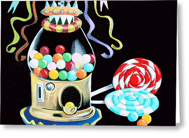 Gumball Machine And The Lollipops Greeting Card