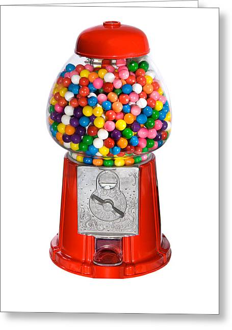 Gumball Vending Machine Greeting Card