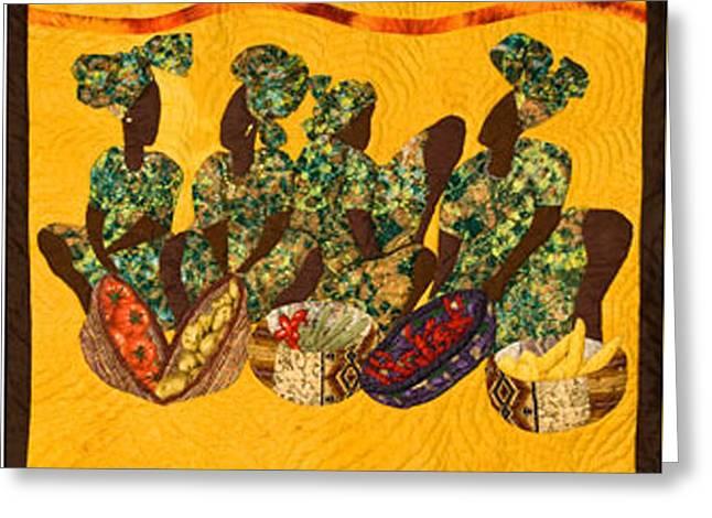 Gumbo Ladies Greeting Card by Aisha Lumumba