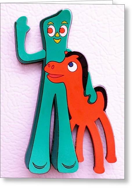 Gumby And Pokey B F F Greeting Card