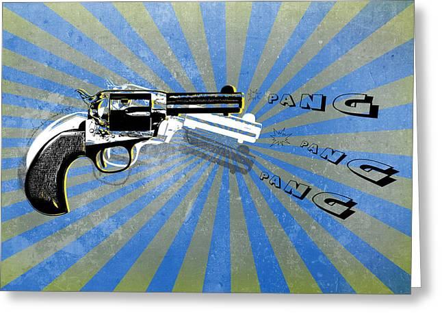 Gun 17 Greeting Card by Mark Ashkenazi