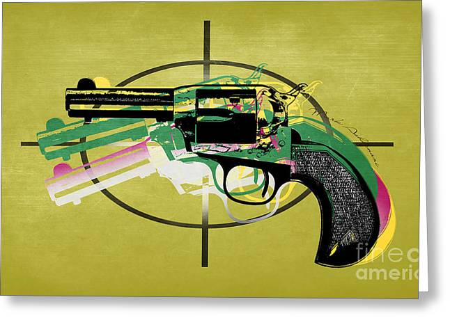 Gun 5 Greeting Card by Mark Ashkenazi