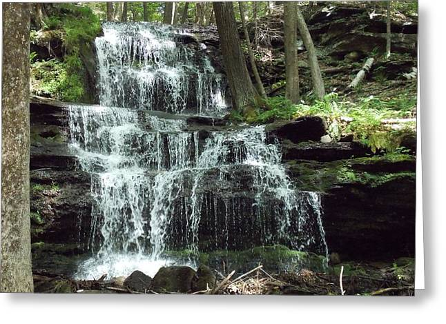 Gun Brook Falls Greeting Card