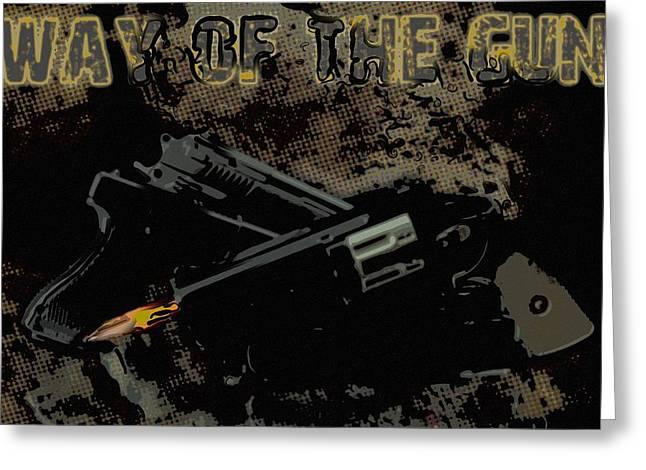 Gun Fantasy Greeting Card by Tommytechno Sweden