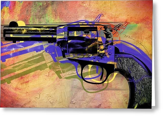 gun Greeting Card by Mark Ashkenazi