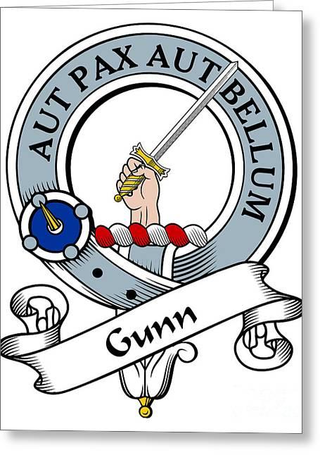 Gunn Clan Badge Greeting Card by Heraldry