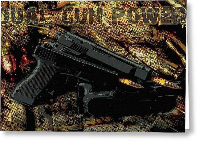 Guns Are Fired Greeting Card by Tommytechno Sweden