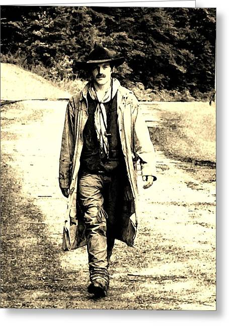 Greeting Card featuring the photograph Gunslinger by B Wayne Mullins