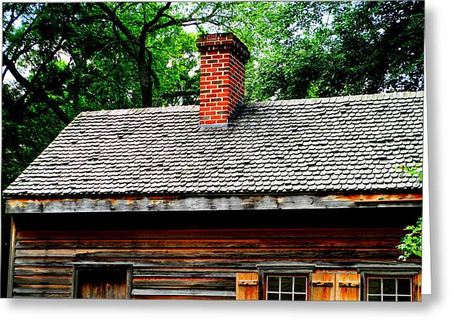 Gunsmith Shop Roof Greeting Card by Randall Weidner