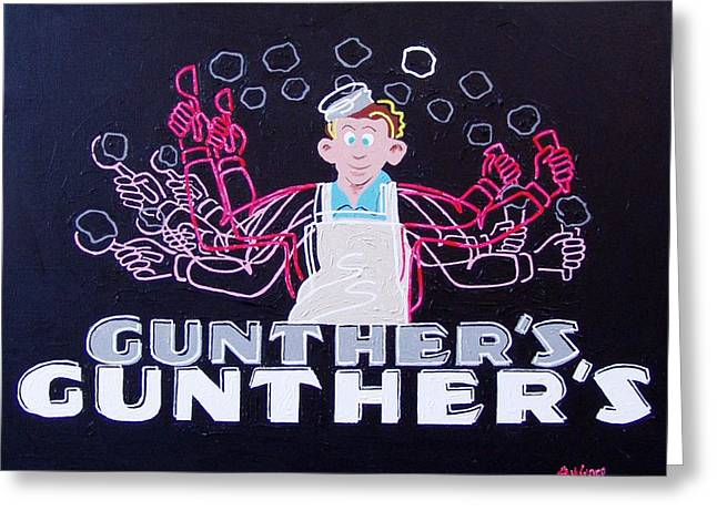 Gunthers Number 5 Greeting Card by Paul Guyer