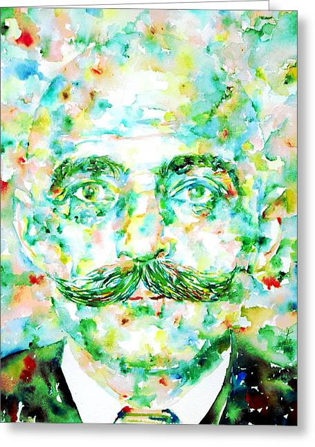 Gurdjieff- Watercolor Portrait Greeting Card