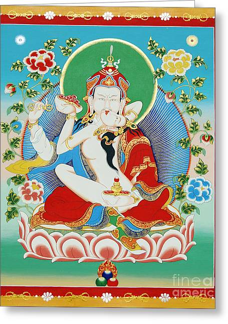 Guru Rinpoche Yab Yum Greeting Card