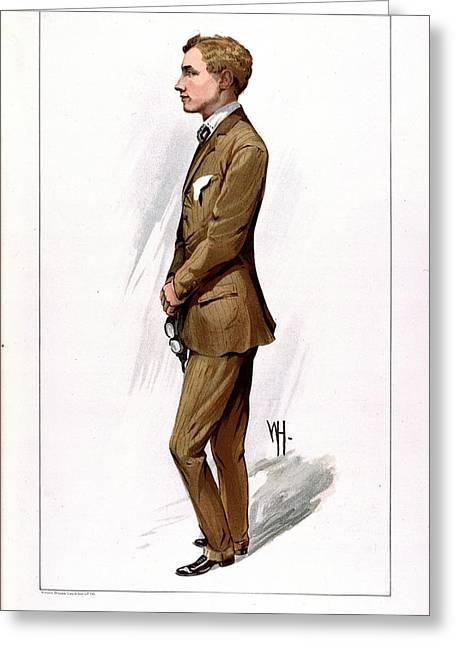 Gustav Hamel Greeting Card by British Library