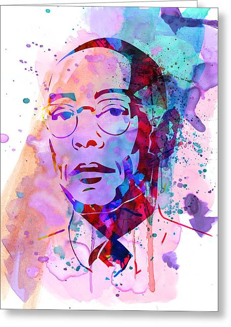 Gustavo Fring Watercolor Greeting Card by Naxart Studio
