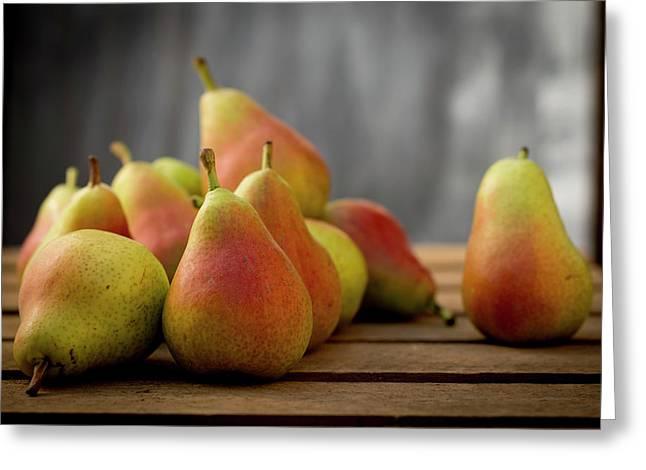 Guyot Pears Greeting Card by Aberration Films Ltd