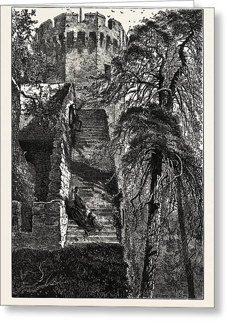 Guys Tower And The Walls Of Warwick Castle Greeting Card