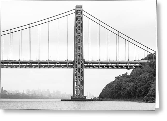 Gwb And Framing Manhattan Greeting Card by Chris Halford