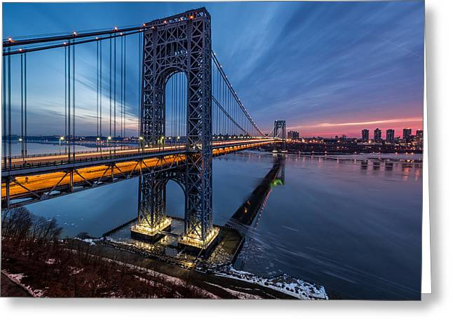 Gwb Sunrise Greeting Card