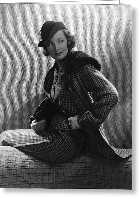 Gwili Andre Wearing Yvonne Carette Greeting Card by Edward Steichen