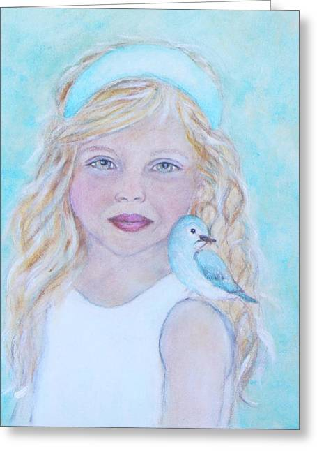 Gwyneth Little Earth Angel Of Happiness Greeting Card by The Art With A Heart By Charlotte Phillips