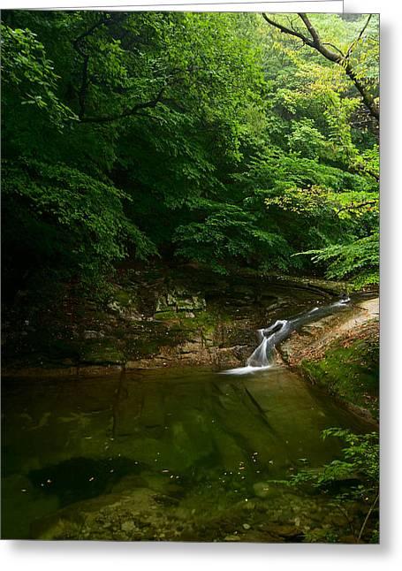 Gyeryongsan Stream And Pool Greeting Card