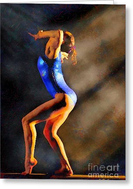 Gymnast In The Light Greeting Card