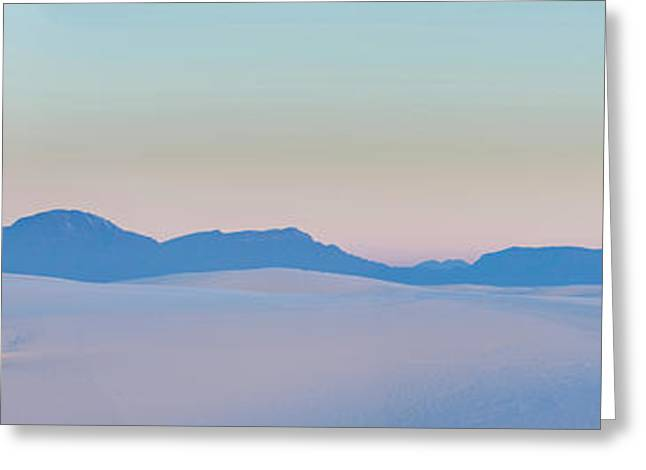 Gypsum Dunes At First Light Of Morning Greeting Card