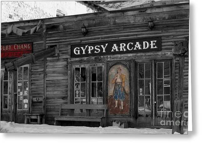 Gypsy Arcade Greeting Card by Janice Westerberg