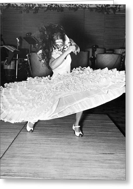 Gypsy Dancer Carmen Amaya Greeting Card by Underwood Archives