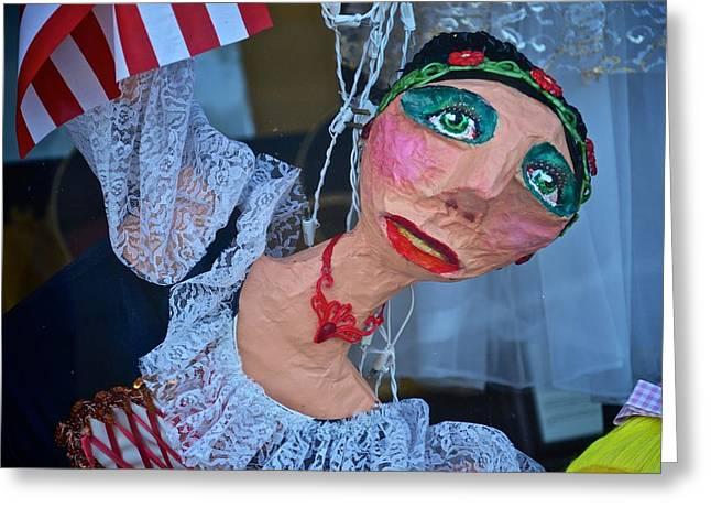 Gypsy Doll Greeting Card by Ricardo J Ruiz de Porras