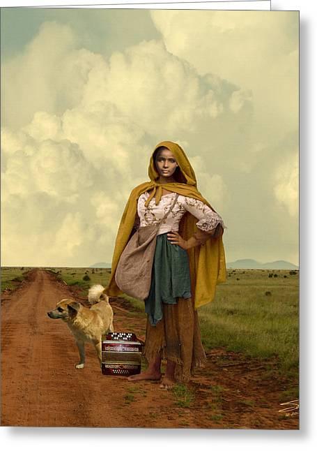 Gypsy Girl's Dream Greeting Card by Schwartz