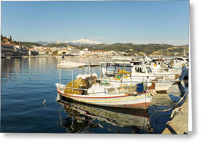 Gytheion Harbour Greeting Card