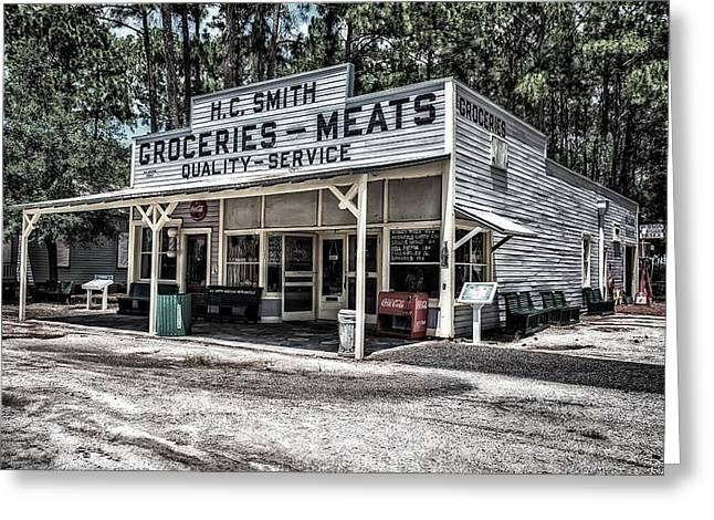 H C Smith's Groceries Heritage Village Greeting Card