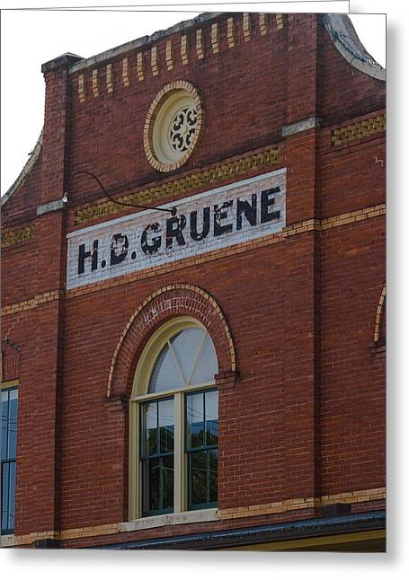 H D Gruene Greeting Card