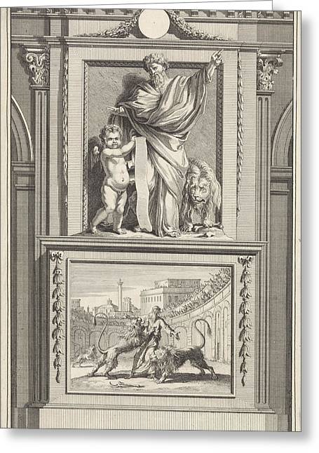 H. Ignatius Of Antioch, Apostolic Father Greeting Card by Jan Luyken And Zacharias Chatelain (ii) And Jan Goeree