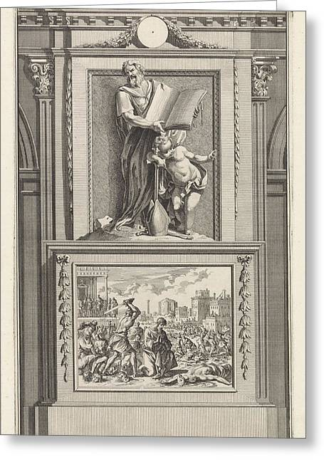 H. Irenaeus Of Lyon, Church Father, Jan Luyken Greeting Card by Jan Luyken And Zacharias Chatelain (ii) And Jan Goeree
