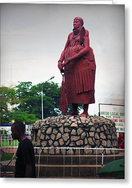Edo Chief Statue Greeting Card