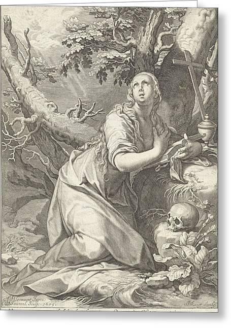 H Penitent Mary Magdalene Greeting Card
