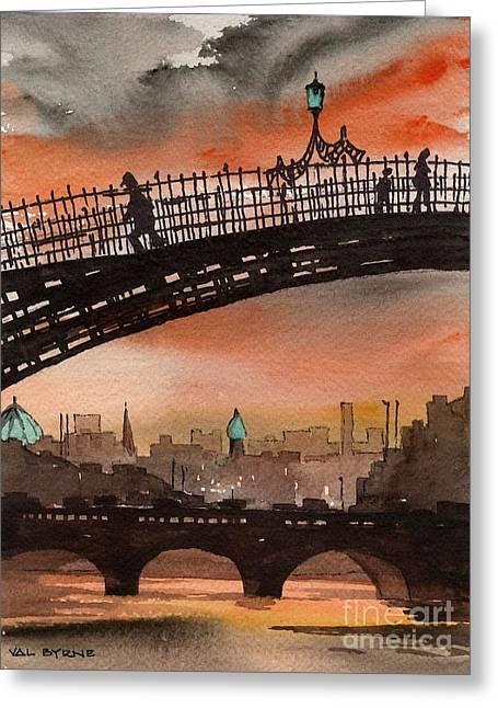 F 763 Ha Penny Bridge  Dublin 1 Greeting Card