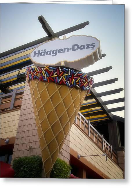 Haagen Dazs Ice Cream Signage Downtown Disneyland 01 Greeting Card