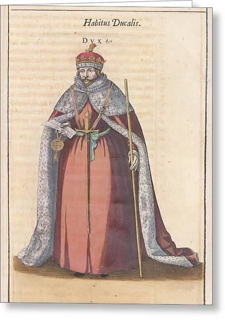 Habitus Ducalis Greeting Card by British Library