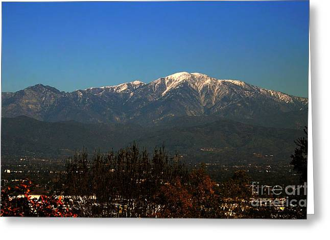 Greeting Card featuring the photograph Hacienda Heights And Industry Overlook by Clayton Bruster