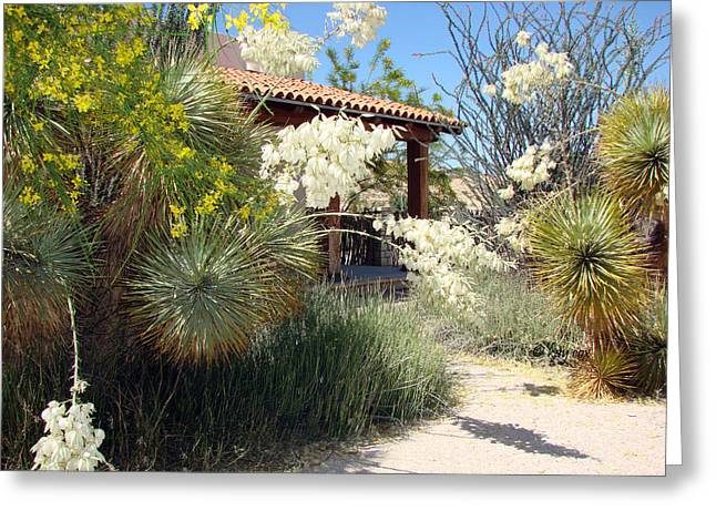 Greeting Card featuring the photograph Hacienda by Linda Cox