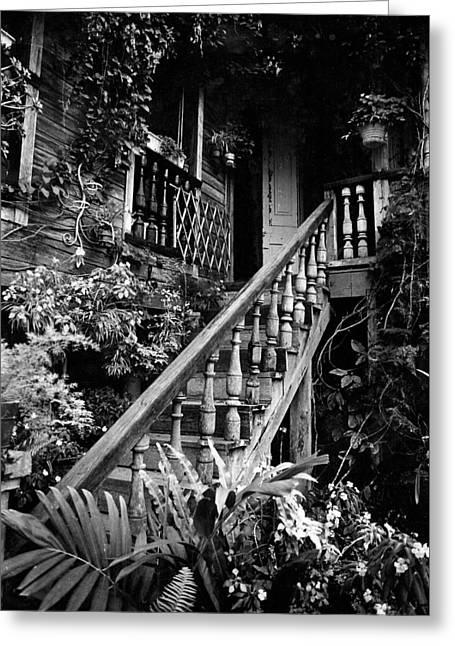 Hacienda Stairway Greeting Card by Ricardo J Ruiz de Porras