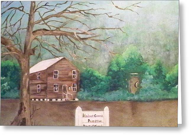 Hadnot Creek Church Greeting Card by Linda Bright Toth